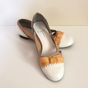 Linea Paolo Oxford Cap Toe Ballet Flat With Bow